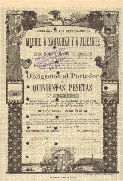 Compañia de los Ferro-Carriles de Madrid a Zaragoza y a Alicante