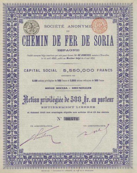 Societe Anonyme de Chemin de Fer de Soria
