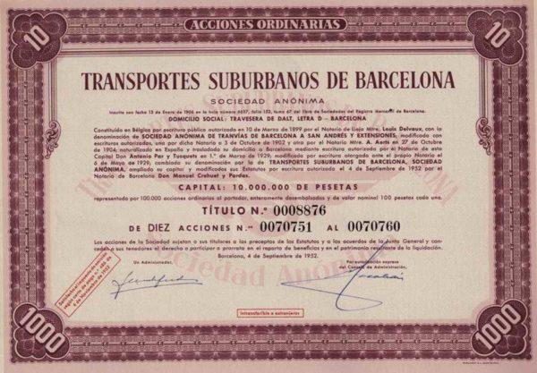 Transportes Suburbanos de Barcelona