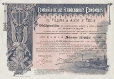 Compañía de los ferrocarriles económicos de Villena a Alcoy y Yecla