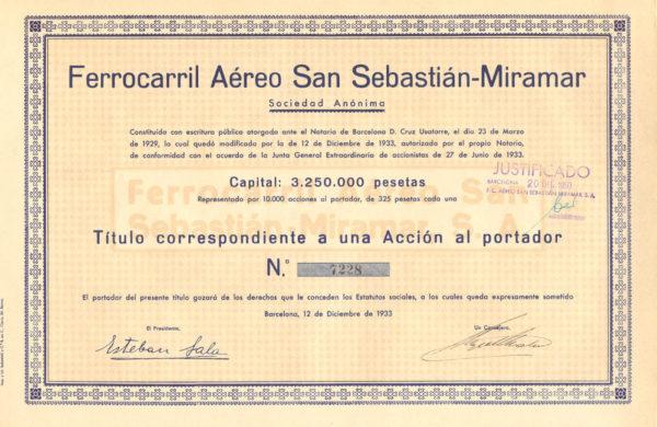 Ferrocarril Aéreo San Sebastian-Miramar SA