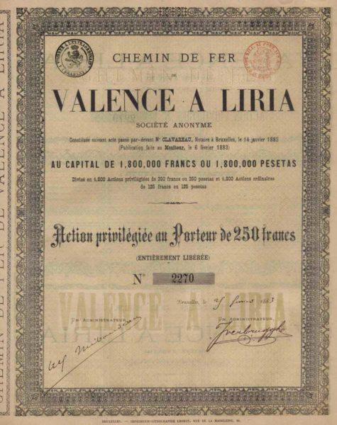 Chemin de Fer de Valencia a Liria SA