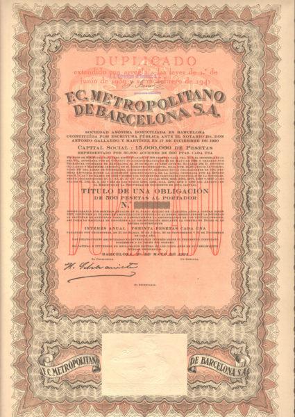F.C. Metropolitano de Barcelona SA