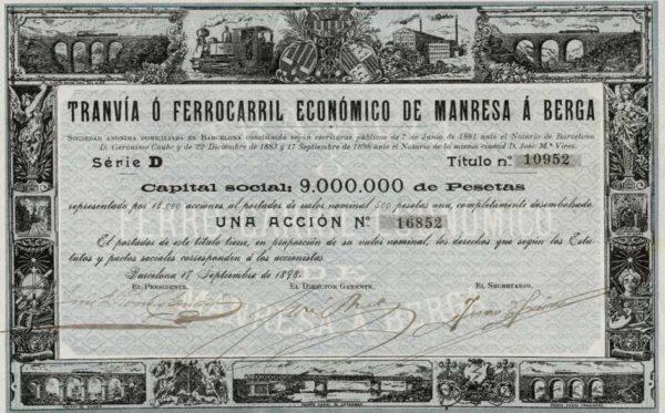 Tranvia o Ferrocarril de Manresa a Berga SA