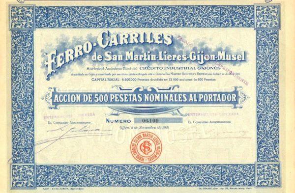Ferro-Carriles de San Martin-Lieres-Gijón-Musel SA