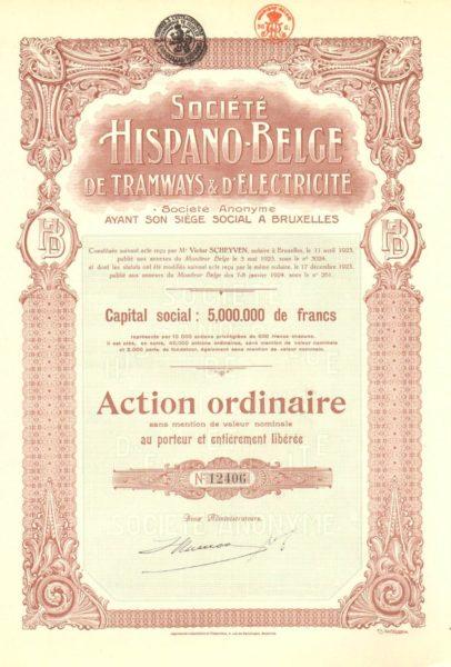Société Hispano-Belge de Tramways & D'Electricité