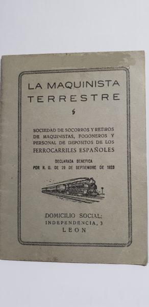 Reglamento de La Maquinista Terrestre y Marítima