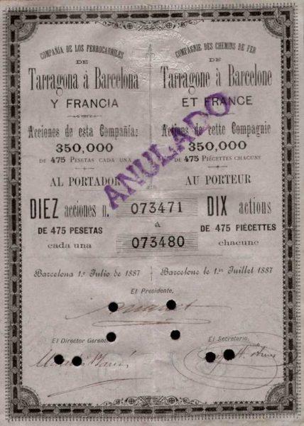Compañía de los Ferrocarriles de Tarragona a Barcelona y Francia