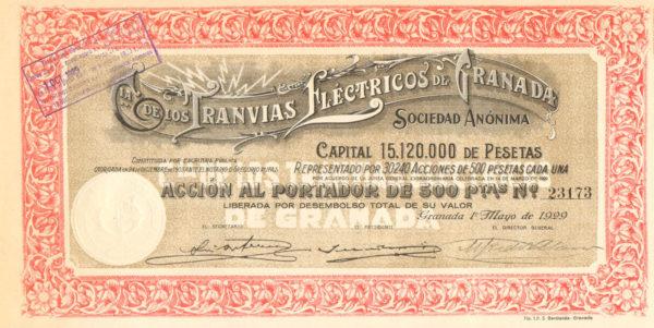 Compañia de los Tranvias Eléctricos de Granada SA